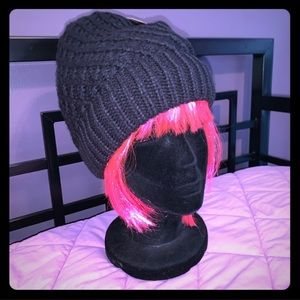 New North Face Black Slouch Knit Beanie
